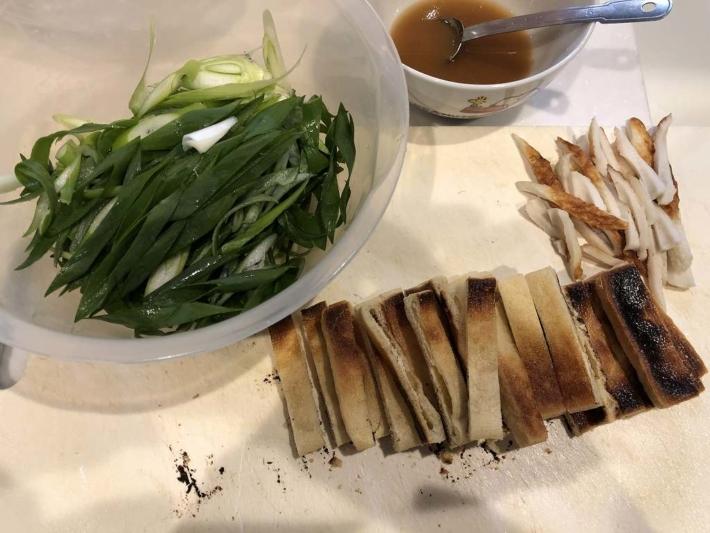 九条ネギのサラダの材料